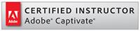 Adobe Certified Captivate Instructor. Logo.