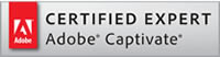 Adobe Certified Captivate Expert. Logo.