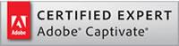 Adobe Certified Captivate Expert. Logo.